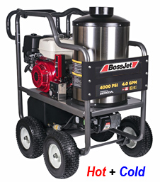 4-Wheel Hot Water Jetter