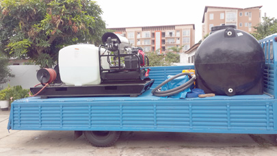 Hot Water Pressure Washer Jetter in Flatbed